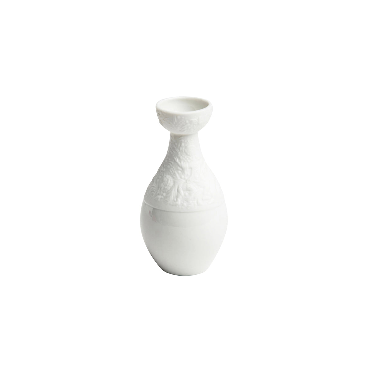 White Magic Porcelain Flute Mini Vase
