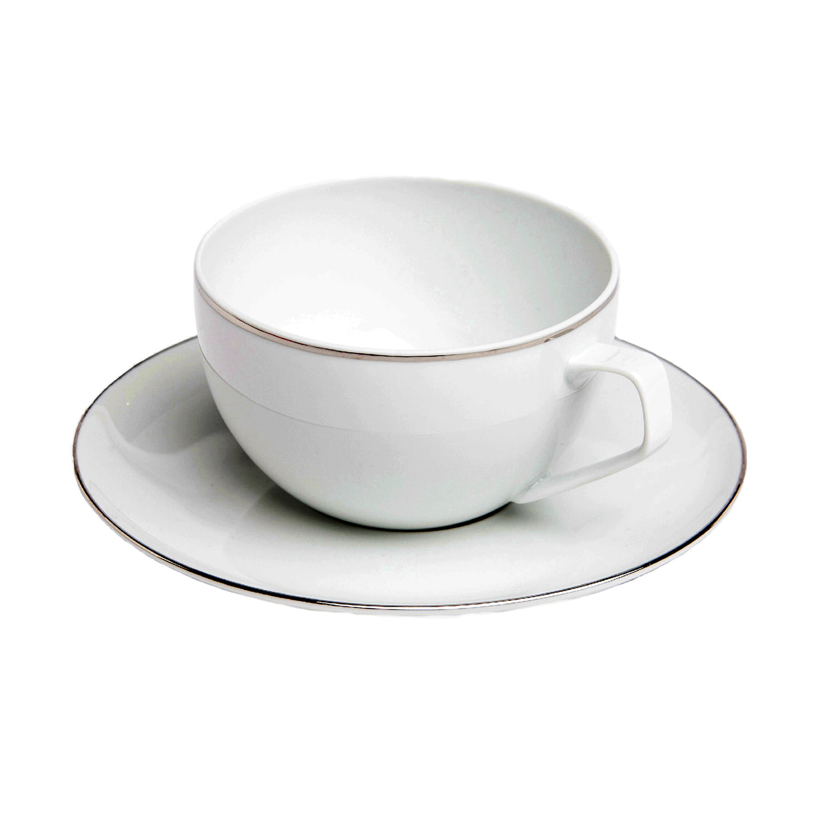 Platinum Filet Combi Porcelain Cup and Saucer