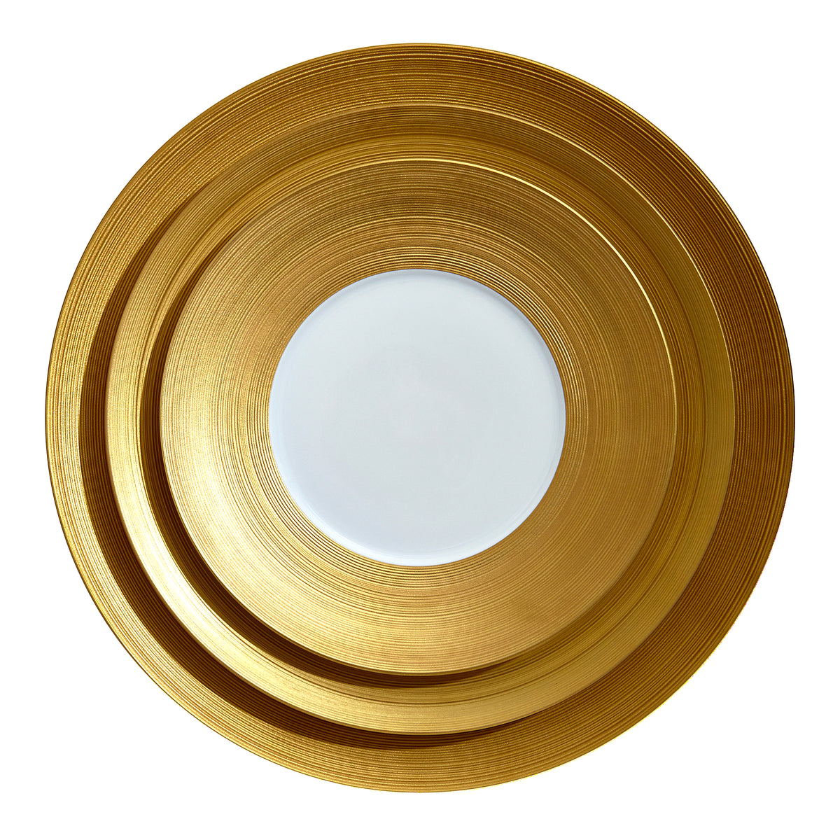 Hemisphere Gold Porcelain Charger Plate