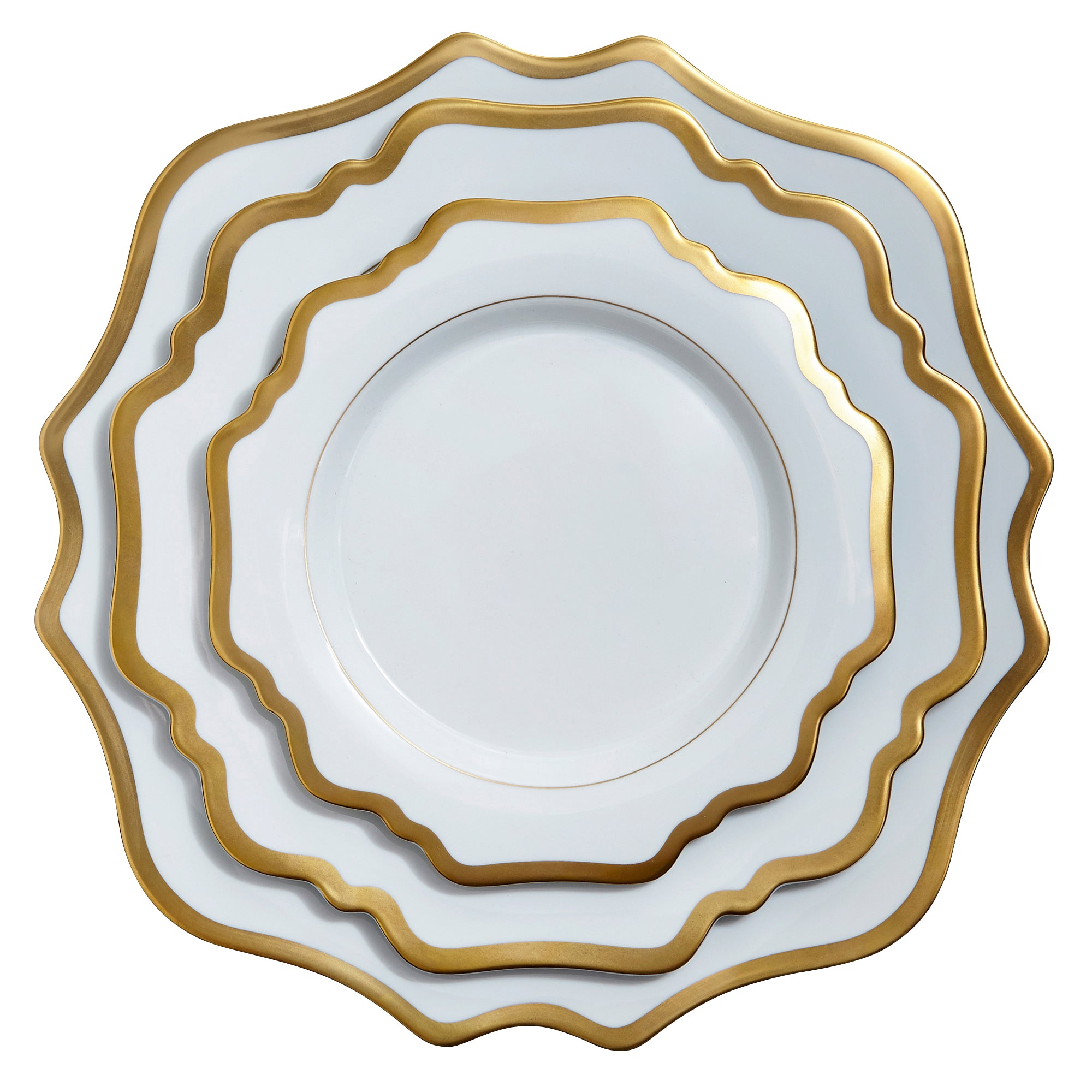 Anna Weatherley Antique White And Gold Charger Plate Jung Lee Ny