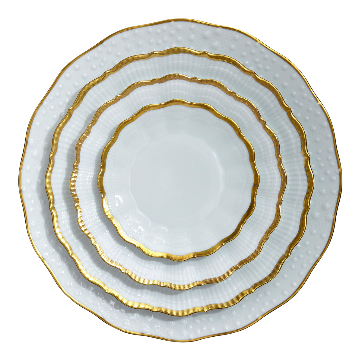 Corail Or Porcelain Dessert Plate