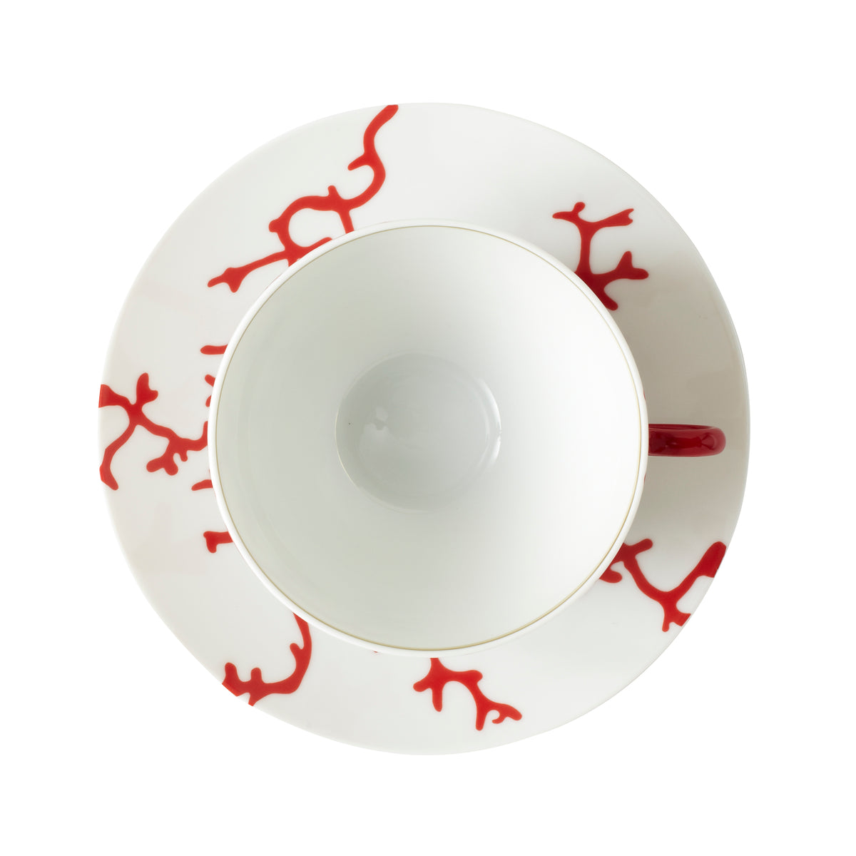 Cristobal Coral Breakfast Porcelain Cup and Saucer