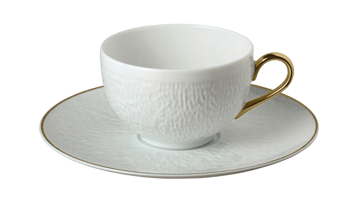 Mineral Gold Porcelain Tea Cup and Saucer