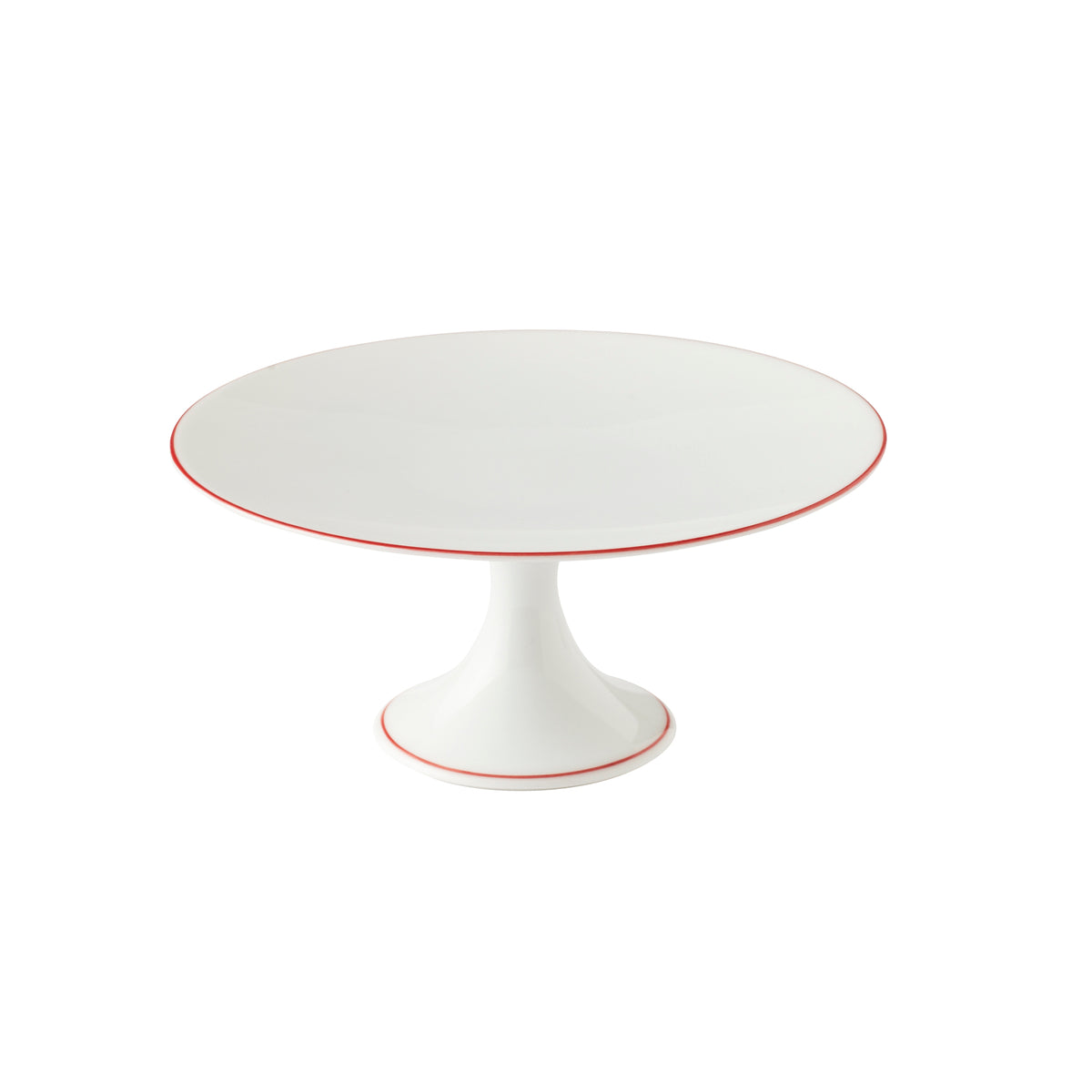 Monceau Small Red Porcelain Petit Four Stand