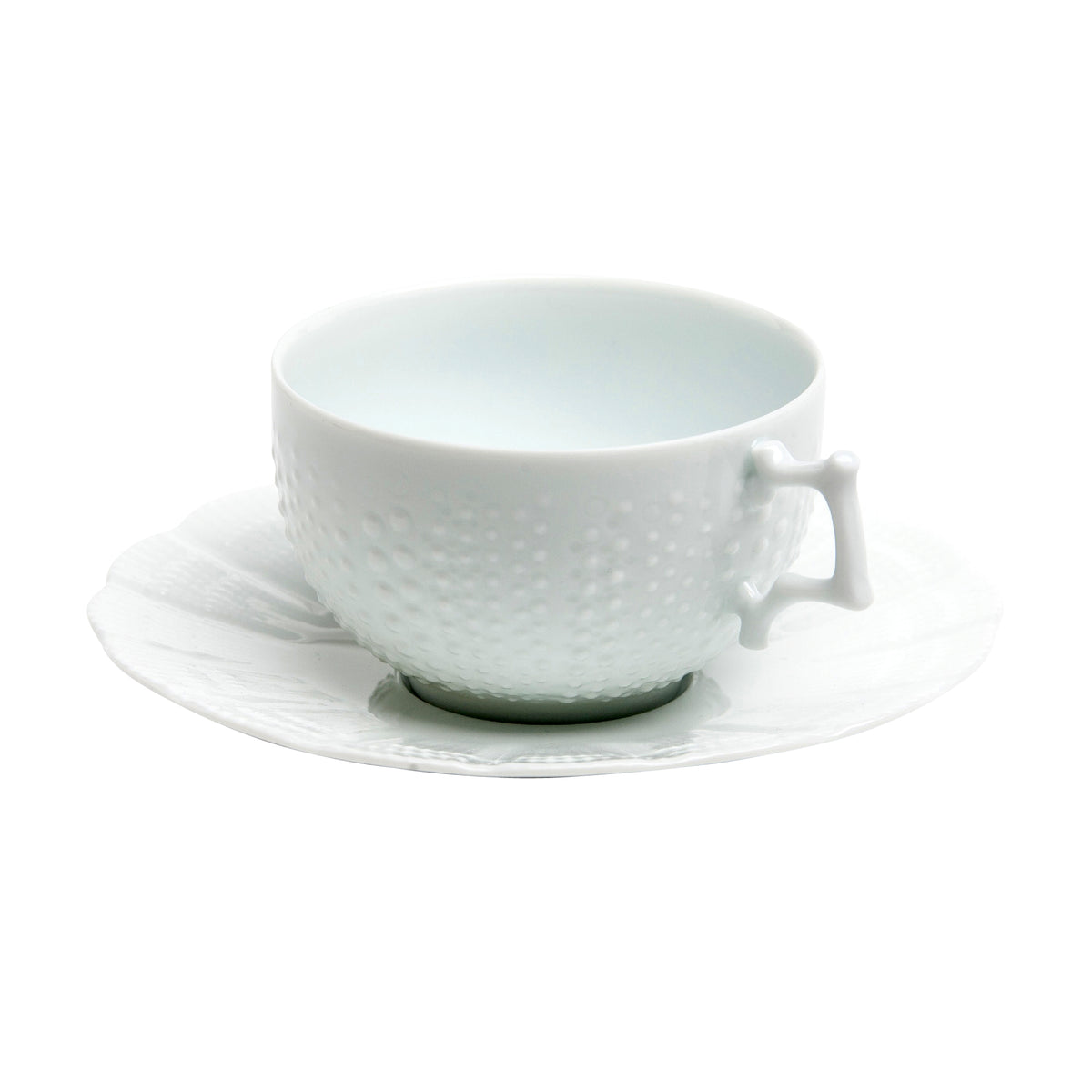 Corail Porcelain Tea Cup and Saucer