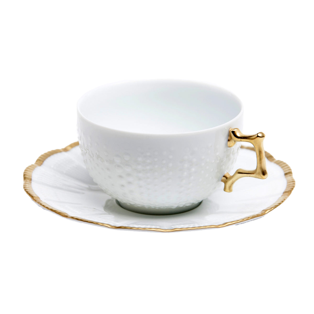 Corail Or Porcelain Tea Cup and Saucer
