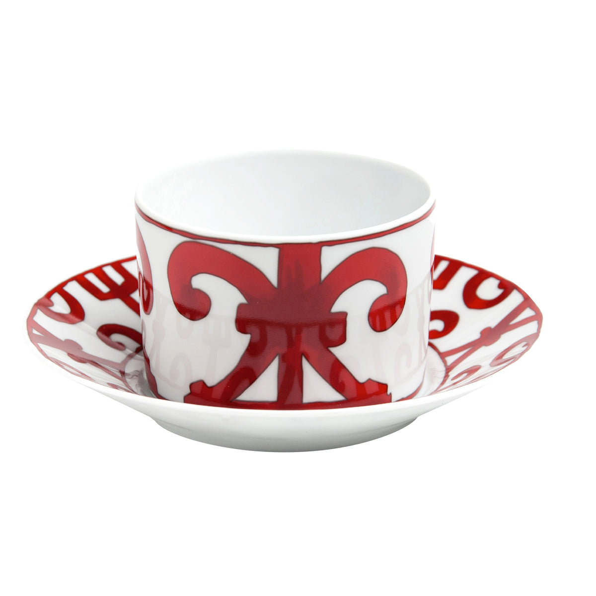 Balcon Du Guadalquivir Red Breakfast Cup and Saucer