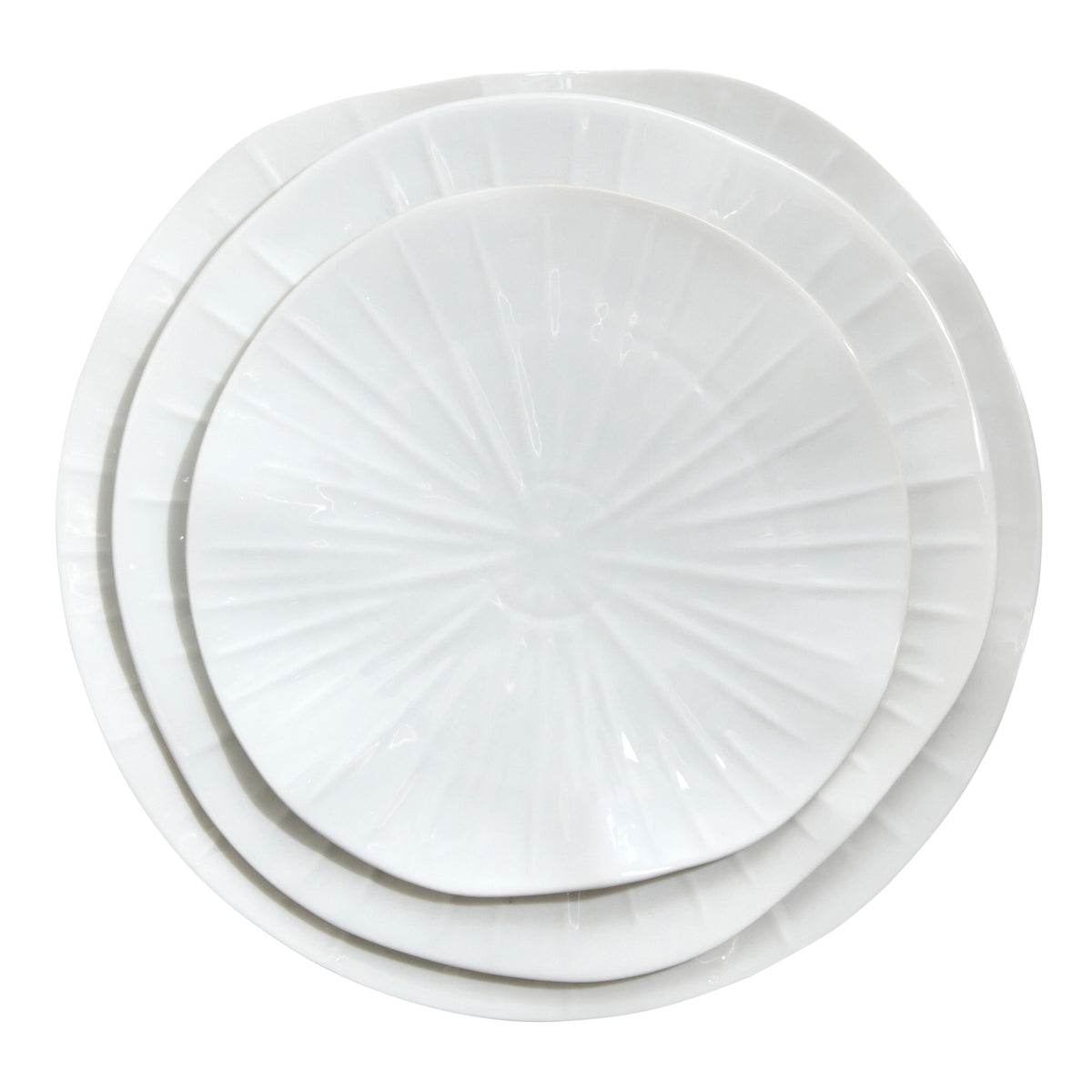 Lotus Porcelain White Dinner Plate