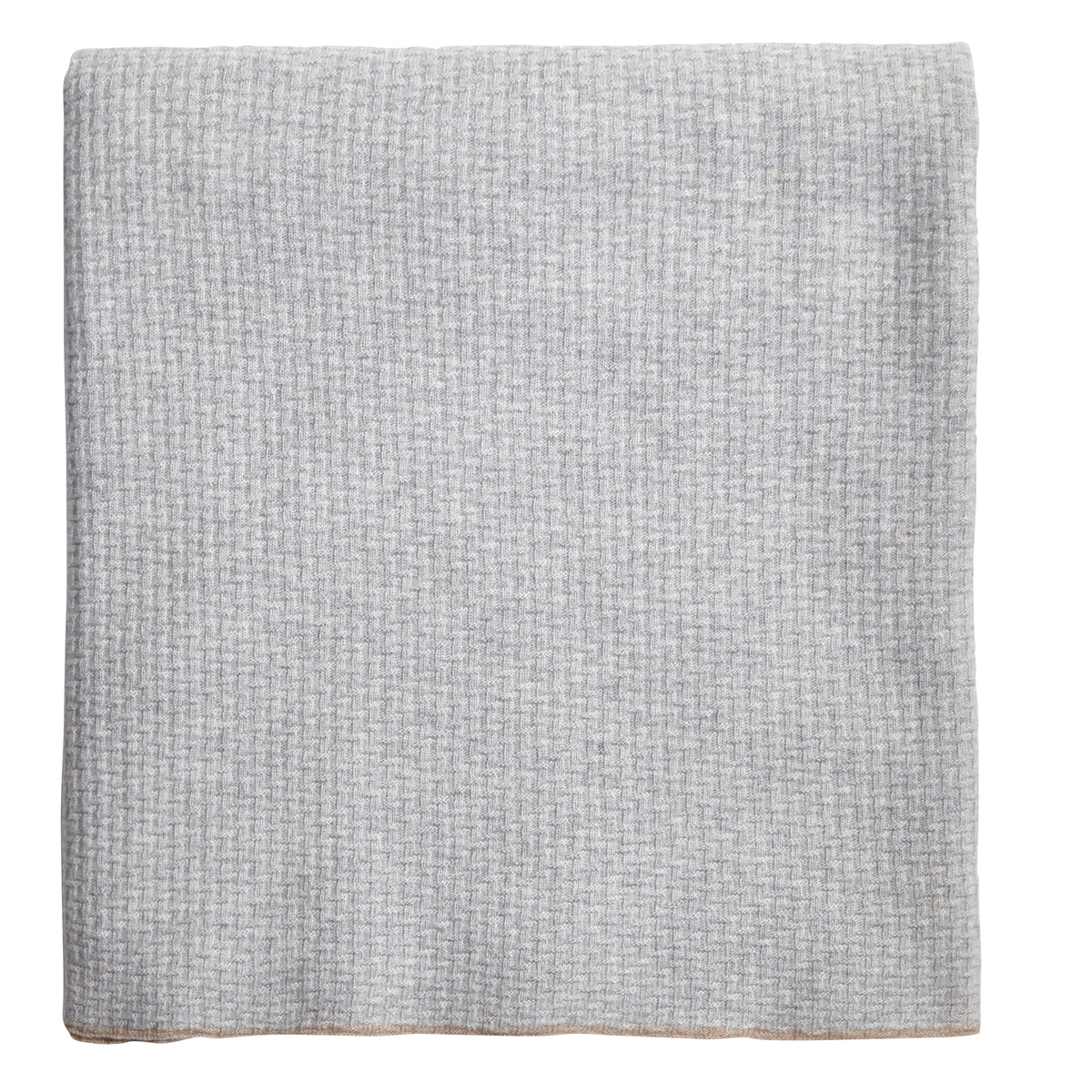 Montecarlo Rice Point Pearl Cashmere and Wool Throw