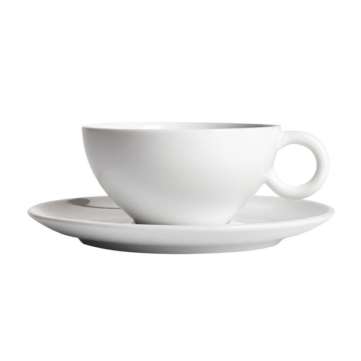 Moa White Cup with Saucer