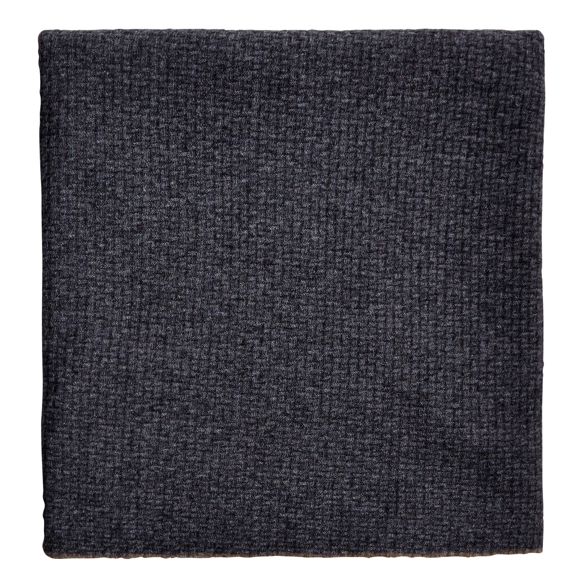 Montecarlo Rice Point Grey Cashmere and Wool Throw