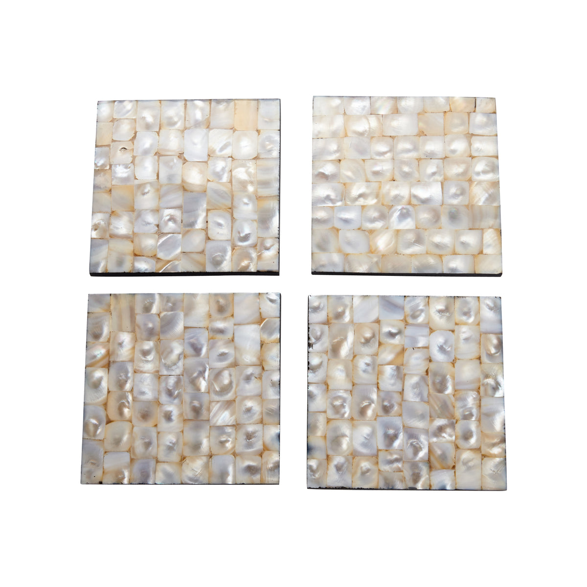 Set of 4 Mother of Pearl Coasters