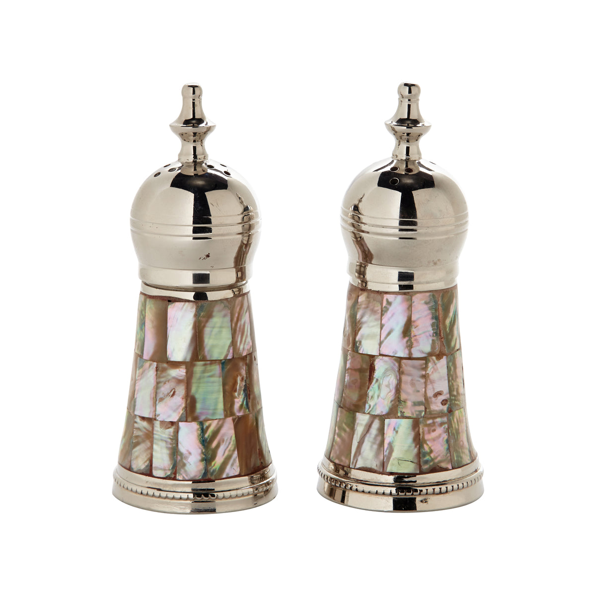 Salt and Pepper Shaker with Mother of Pearl