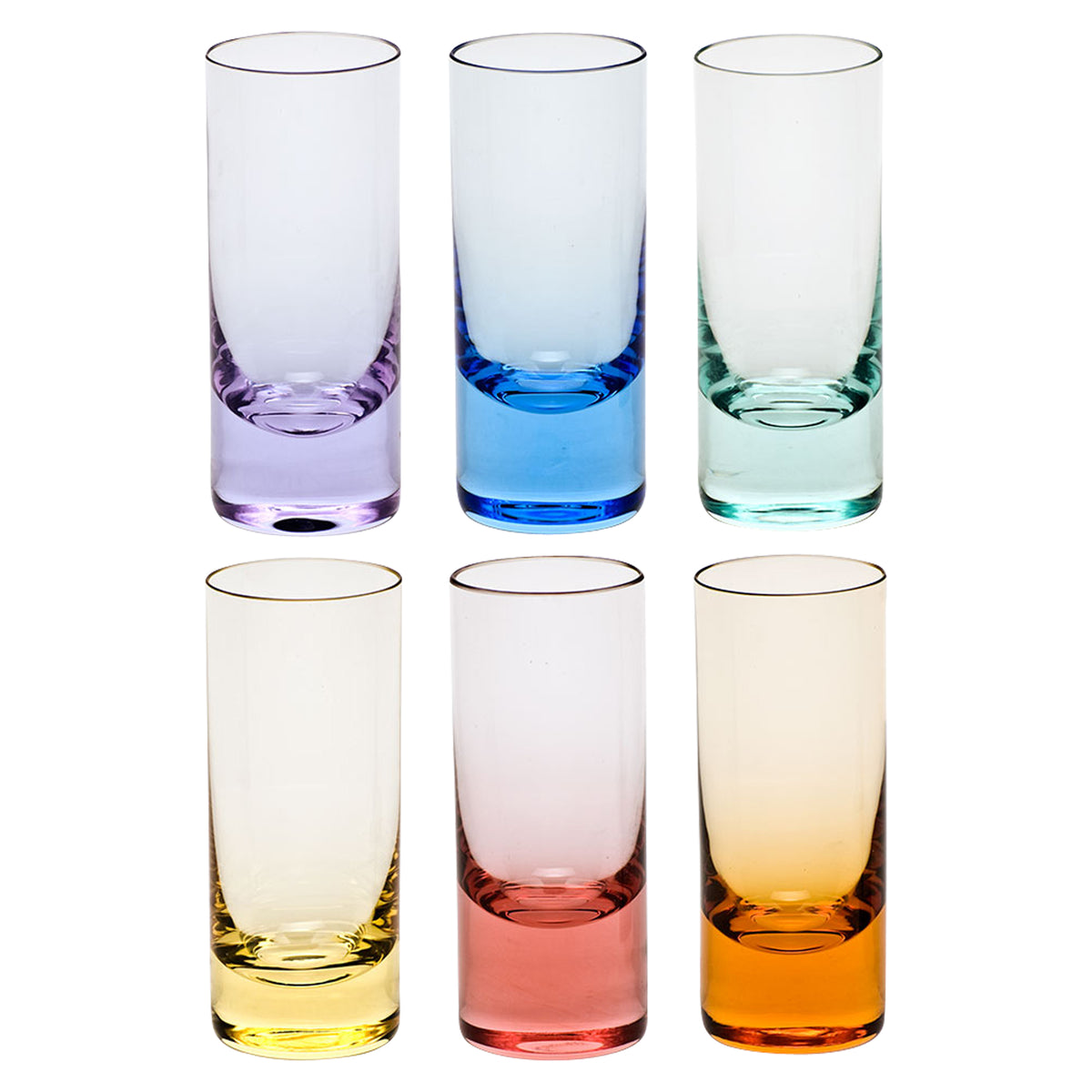 Set of 6 Multicolor Vodka Glasses