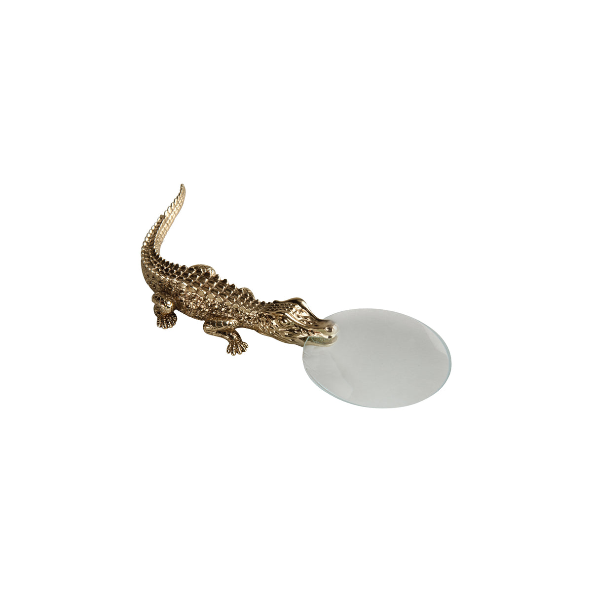 Gold Plated Crocodile Magnifying Glass