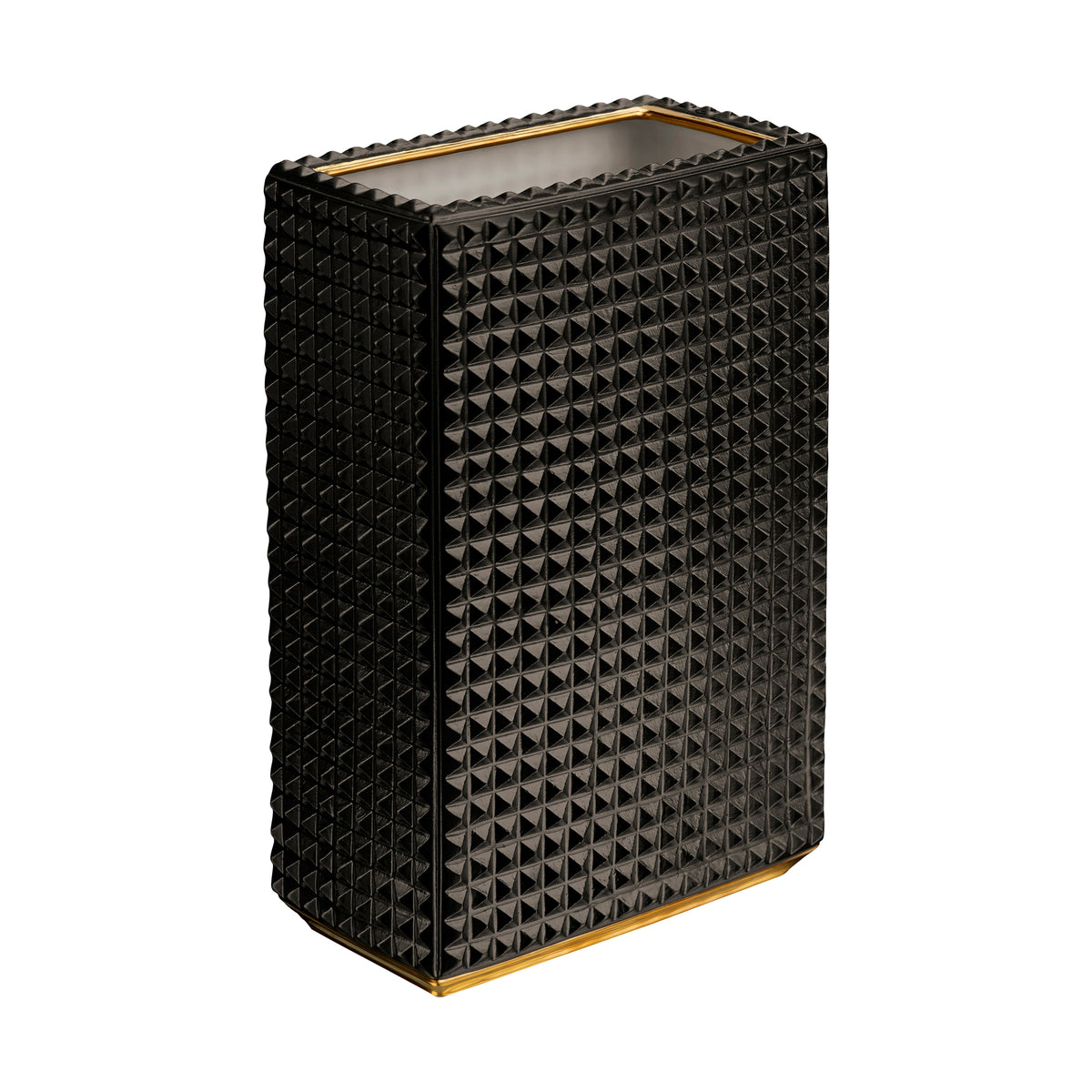 Black and Gold Bibliotheque Vase