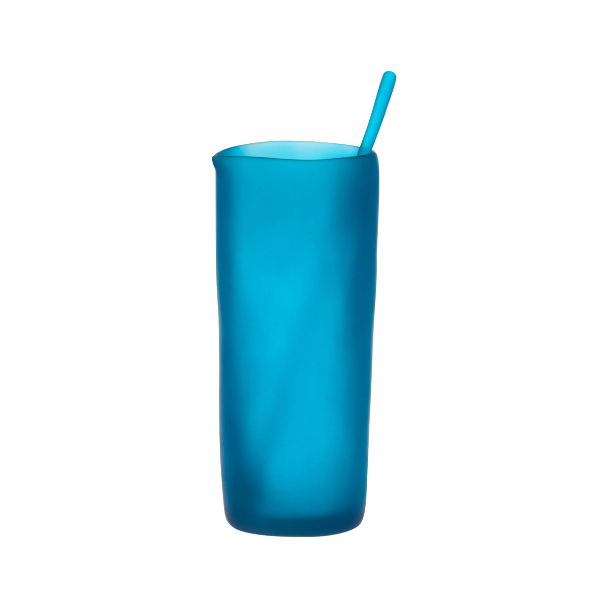 Blue Pitcher with Swizzle Stick