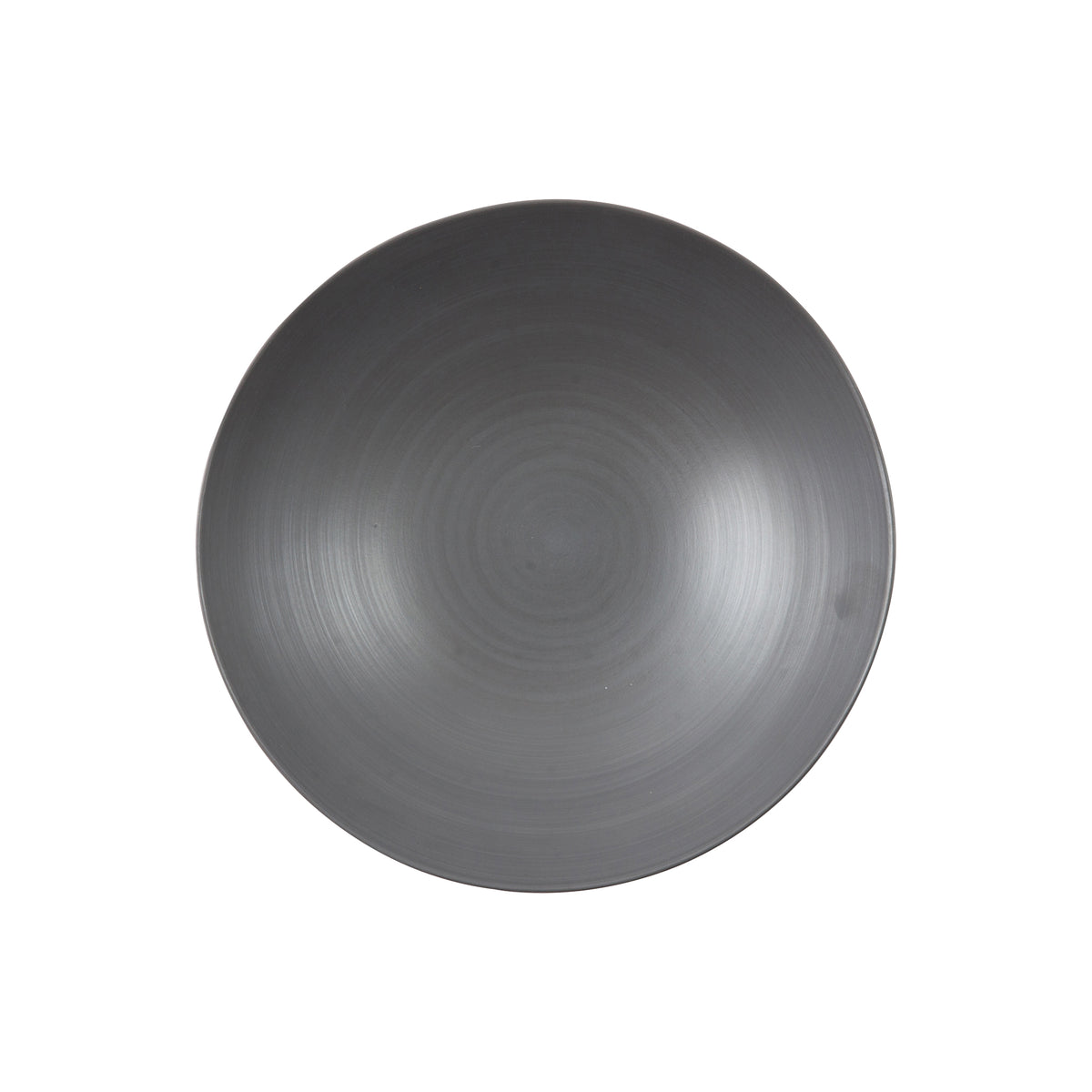 Round Graphite Peel Soup Plate