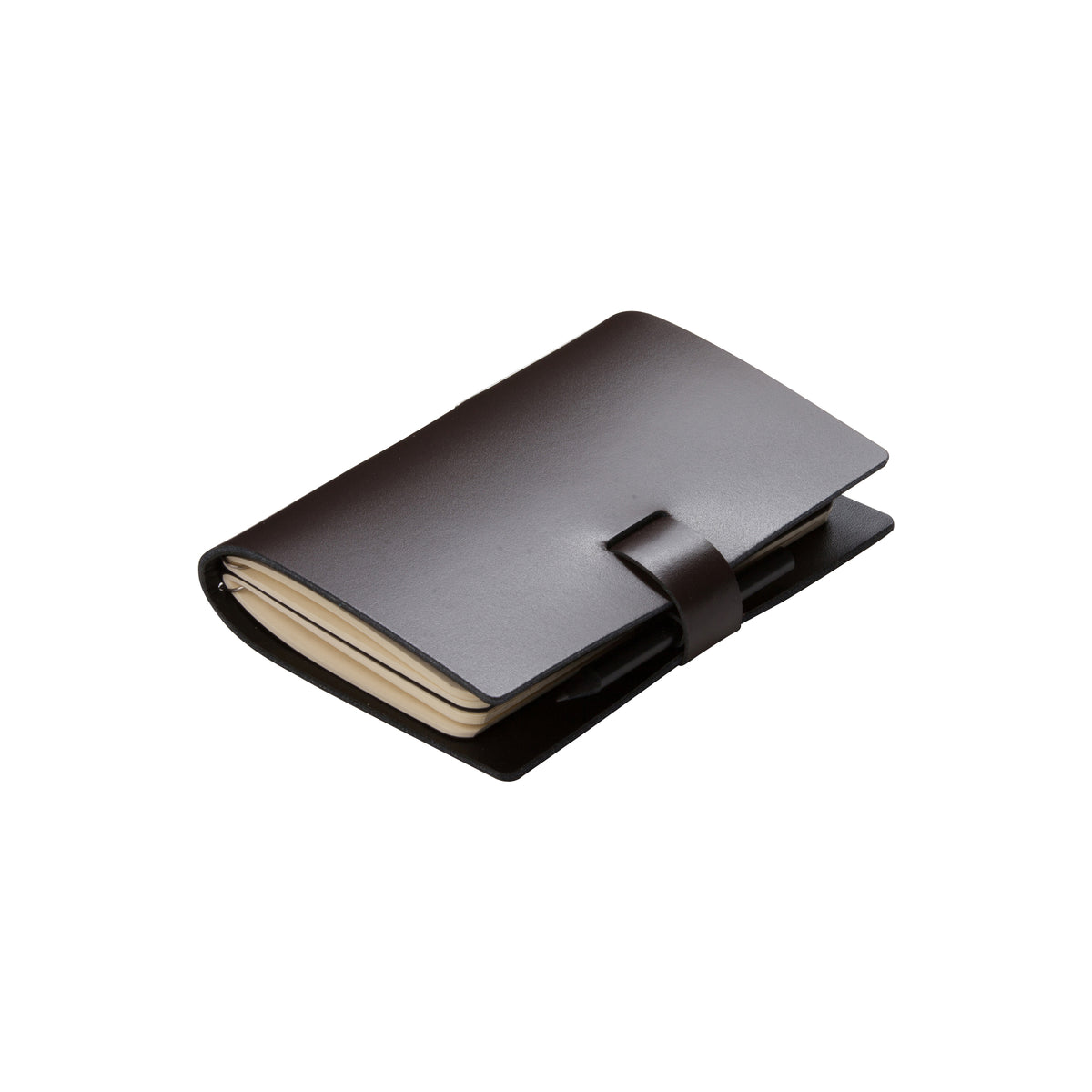 Small Coffee Elaine Leather Notebook