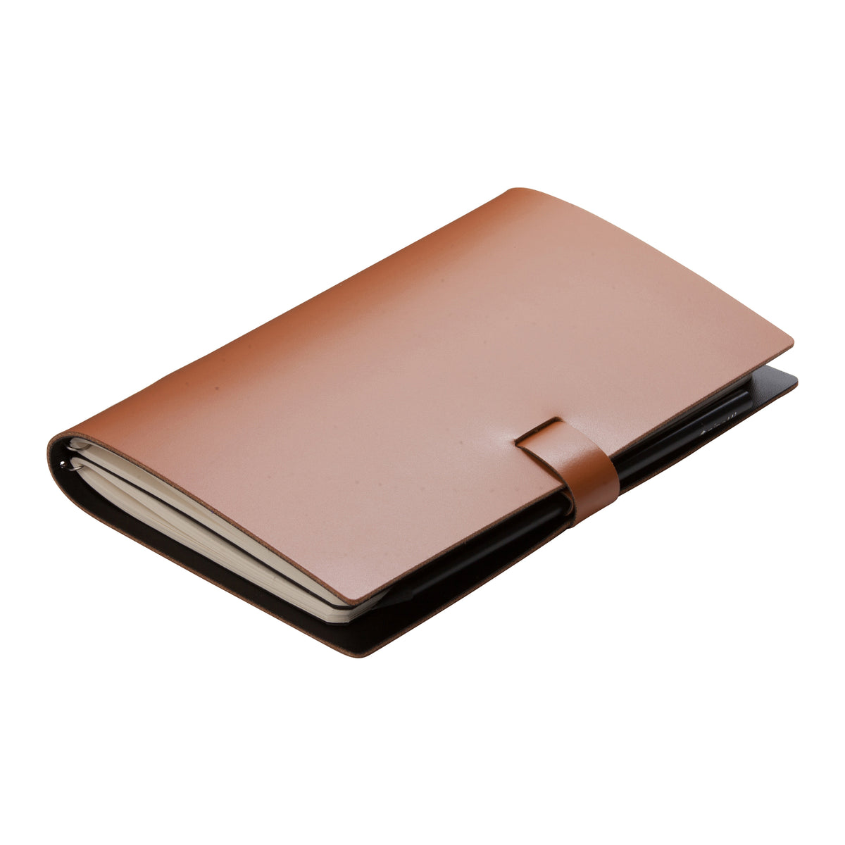 Large Camel Elaine Leather Notebook