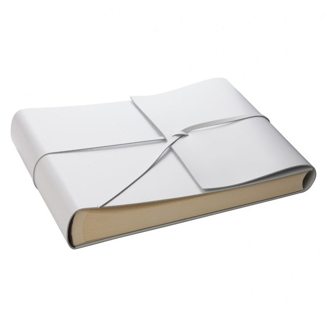 Large White Leather Photo Album