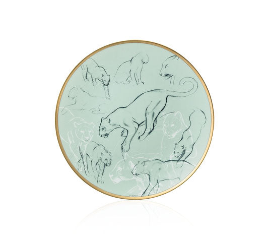 Carnets d'Equateur Bread and Butter Plate, Cats Theme, 5.5""