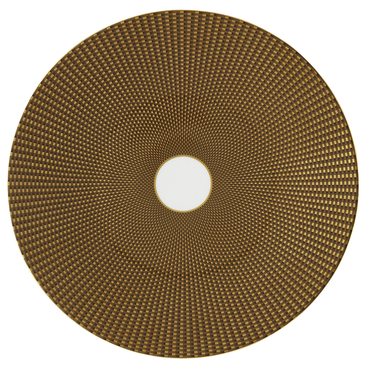 Tresor Brown Porcelain Charger Plate
