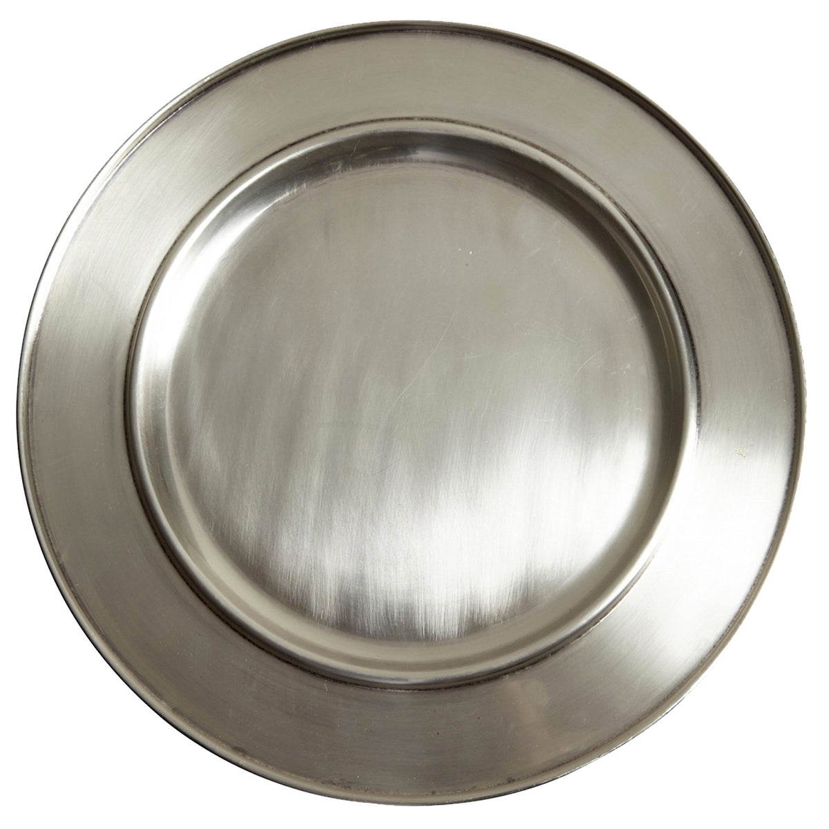 Brushed Silver Charger Plate