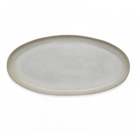 Plume White Pearl Oval Platter