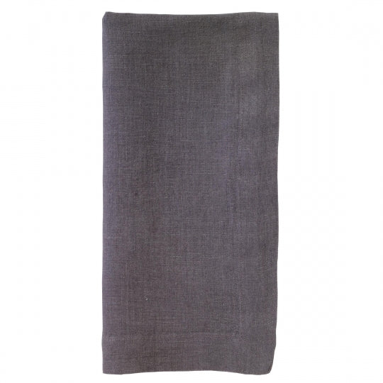 Riviera Gunmetal Linen Napkin, Set of 4