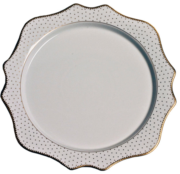 Simply Anna Antique Polka Dot Charger