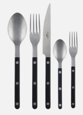 Bistro Vintage Black 5-Piece Flatware