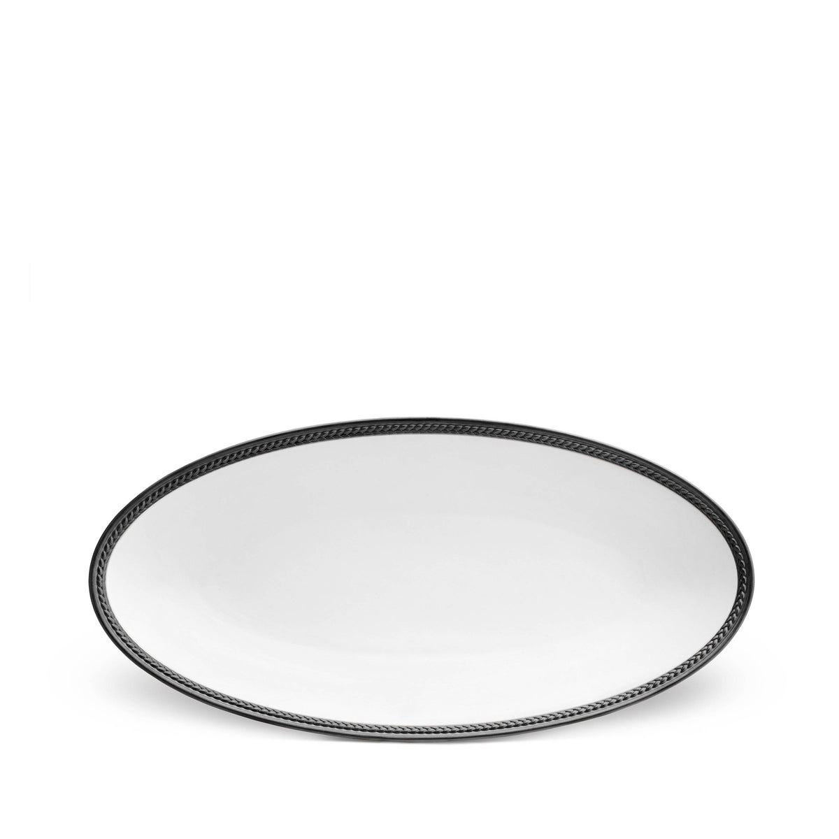 Soie Tressée Oval Platter - Small - Black