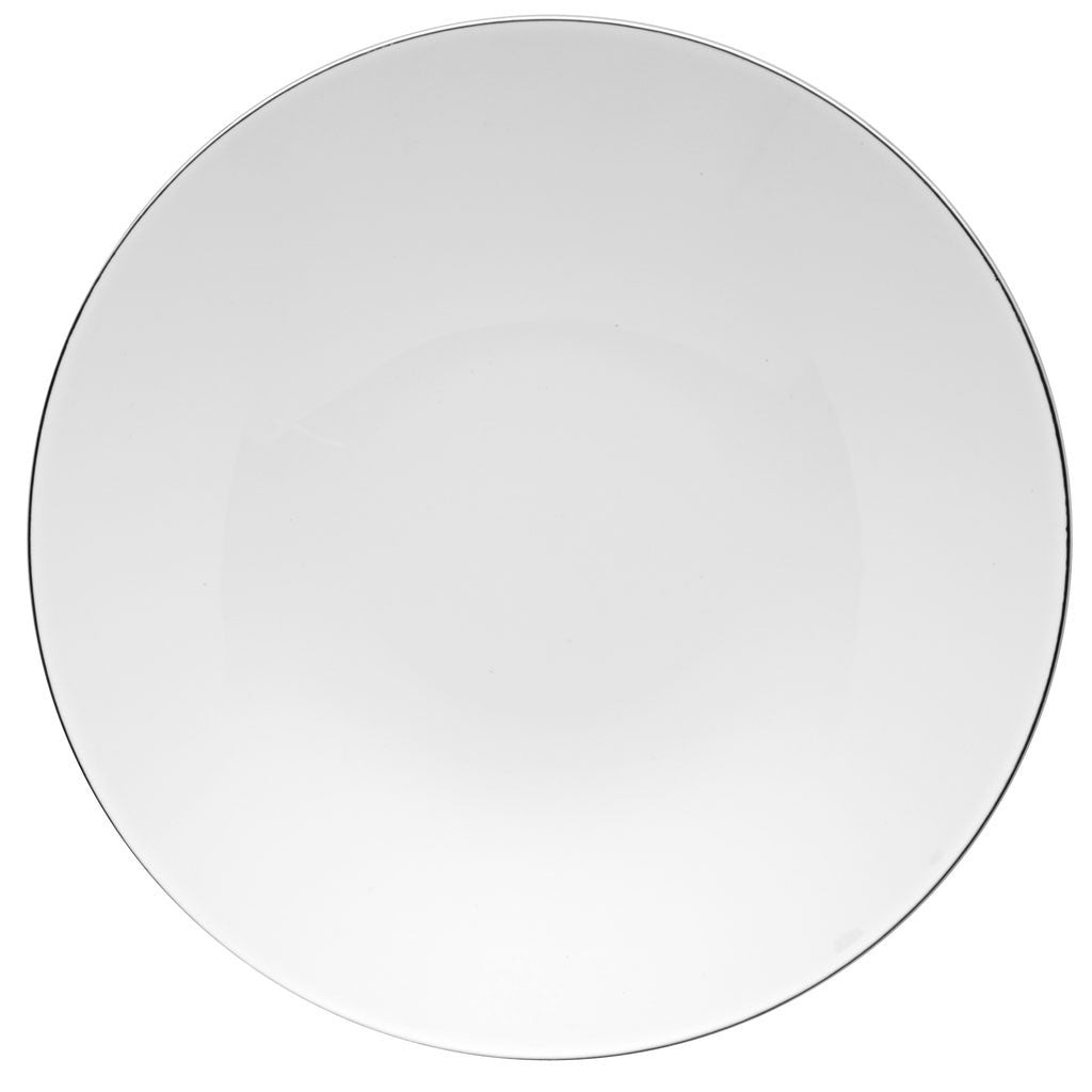 Platinum Filet Porcelain Service Plate