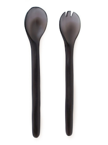 Large Grey Salad Servers