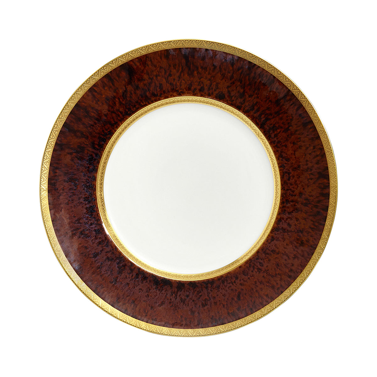 Tortoise Gold Incrustation Porcelain Dinner Plate