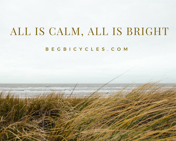 ALL IS CALM, ALL IS BRIGHT (ON A BICYCLE!)