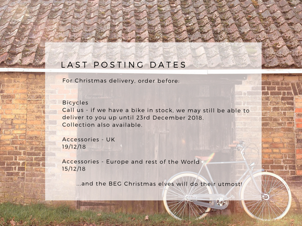THERE'S STILL PLENTY OF TIME! LAST POSTING DATES 2018