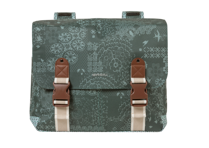 Basil Bohème double bicycle bag