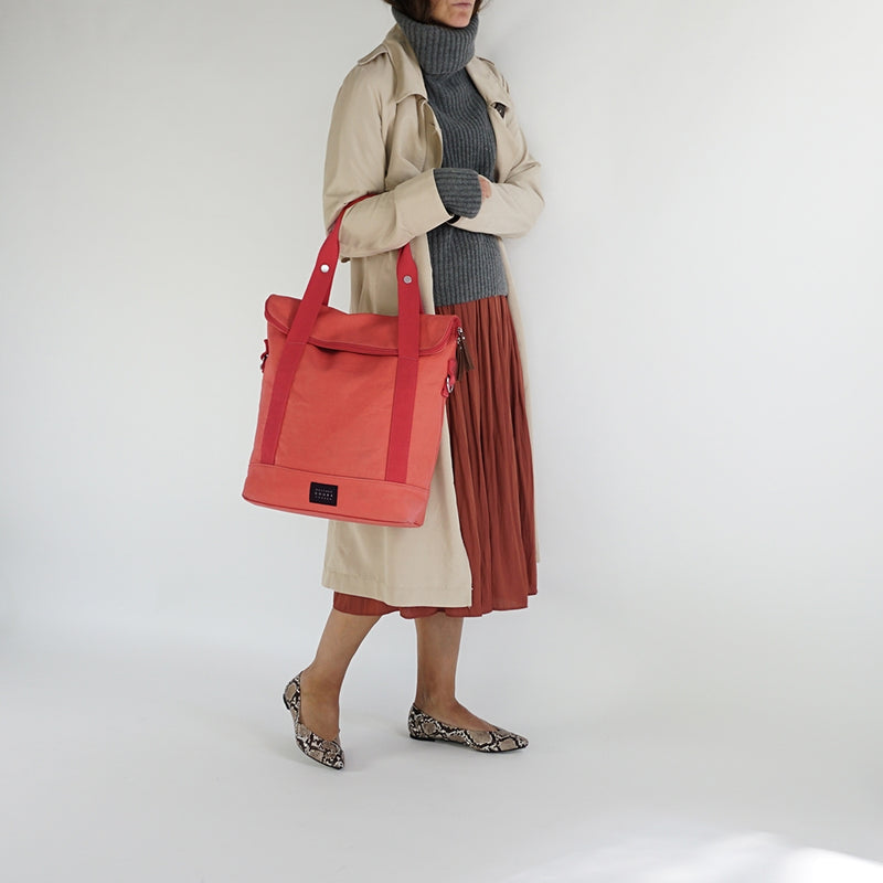WEATHERGOODS CITY TOTE BAG PANNIER CORAL