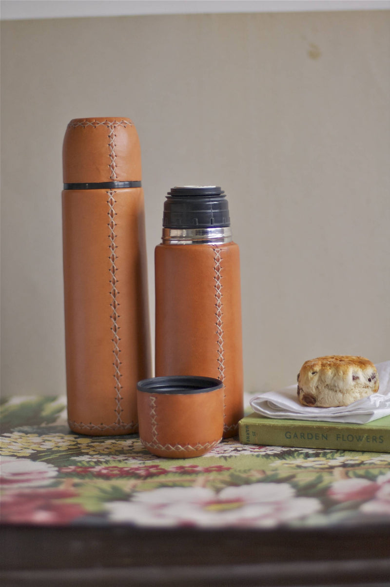 Tea for Two 0.5cl Leather Flask