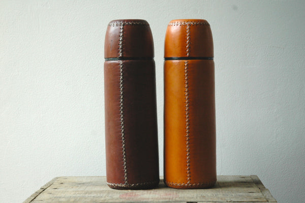 LARGE LEATHER FLASK