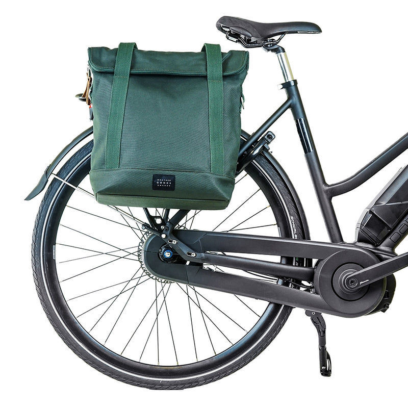 WEATHERGOODS CITY TOTE BAG PANNIER GREEN