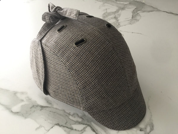 BEG BICYCLES CASQU' EN VILLE HIS AND HERS SHERLOCK DEERSTALKER STYLE TWEED CAP ONLY