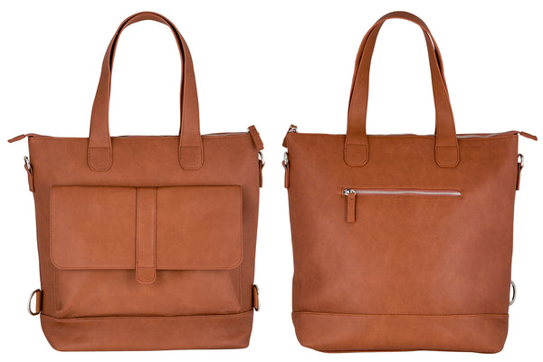 WEATHERGOODS URBAN TOTE BICYCLE PANNIER COGNAC