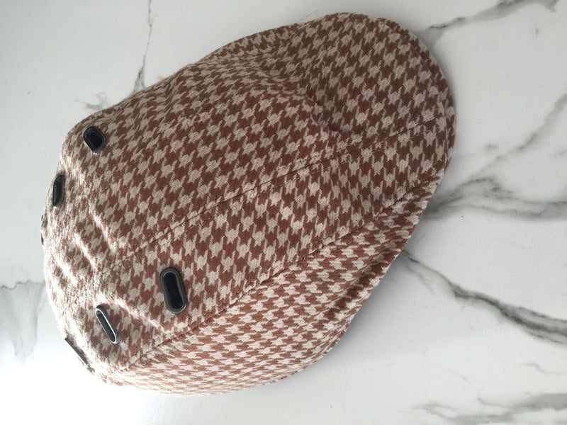 BEG BICYCLES CASQU'EN VILLE HIS AND HERS DOGTOOTH CYCLE HELMET CAP only