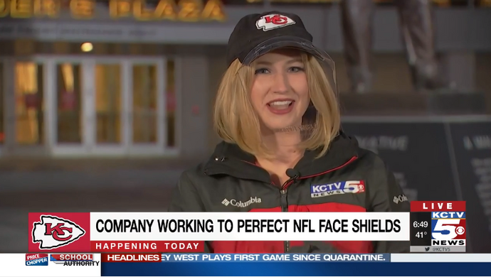 You've seen Andy Reid roaming the sideline with his face shield. Now meet the company who's sent similar face shields to coaches around the NFL