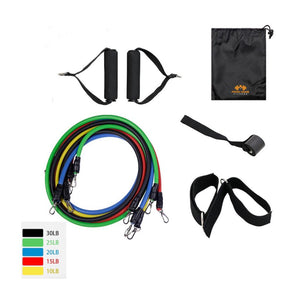 Full Body Workout Resistance Power Bands Fitness and Exercise at Home Gym Equipment