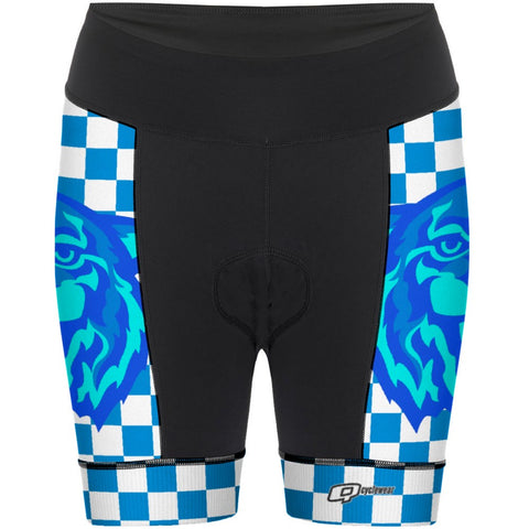 Checkrd Tiger - Women Cycling Shorts