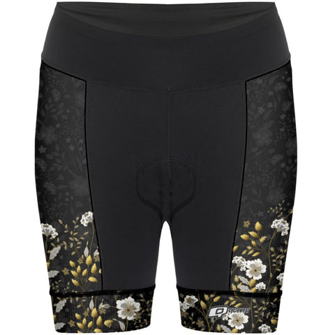 Golden Flowers - Women Cycling Shorts